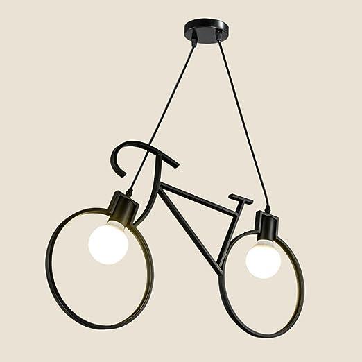 Lámpara de Techo Candelabro de Hierro Bicicleta E27 Restaurante ...
