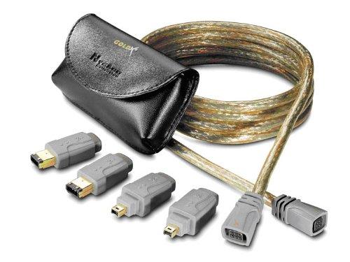 JDI TECH Goldx 3 in 1 Firewire 6ft. Cable ( GXQF-06 )
