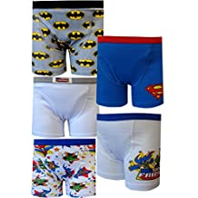 DC Superfriends Little Boys' 5 Pack Boxer Briefs Batman Superman Size 2T/3T & 4T
