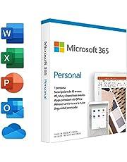 Microsoft 365 Personal | Suscripción anual | Para 1 PC o Mac, 1 tableta incluyendo iPad, Android, o Windows, además de 1 teléfono