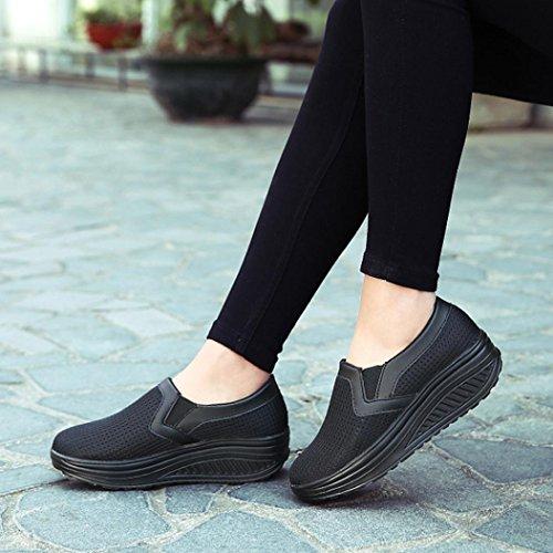 Plataforma Zapatillas Zapatos Casuales A Zapatos Malla Respirables de Zapatillas de Gimnasia de Deporte Mujer Logobeing Deporte Moda xCn7wTvqq