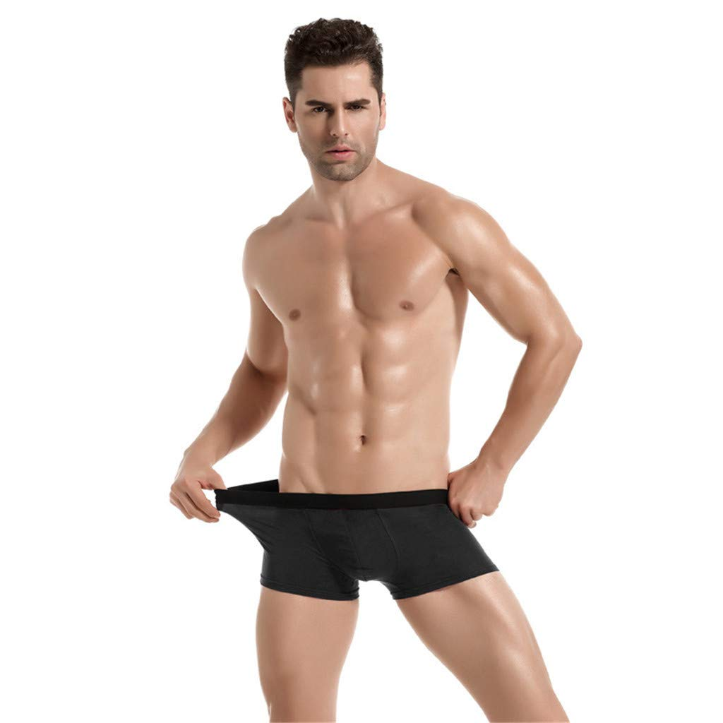 Donci Pants Men's Cotton Stretch Multipack Boxer Briefs Black by Donci Pants