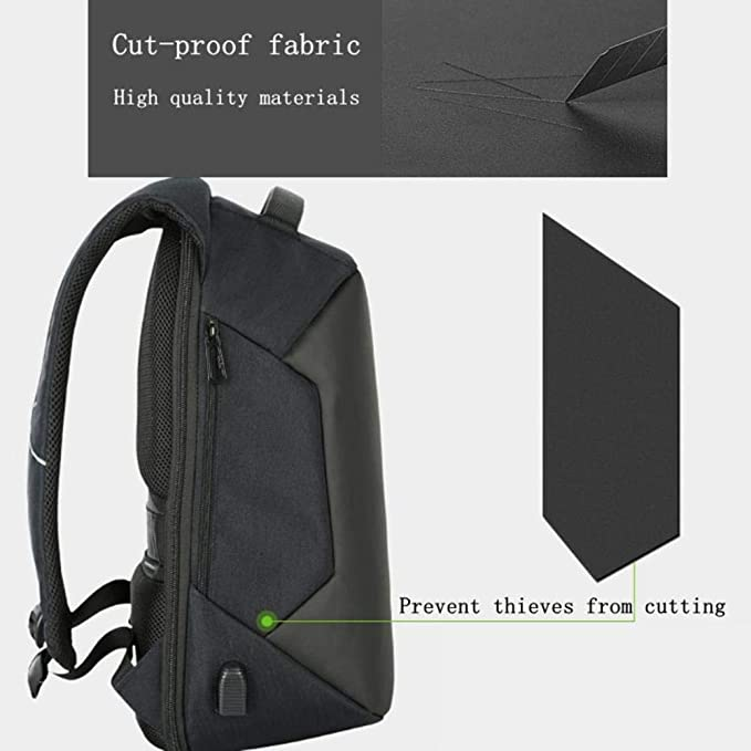 Amazon.com: Men Theft Laptop Backpacks Waterproof USB Charging Brand Design Bags Male Business Travel Bagpack Backpack: Computers & Accessories