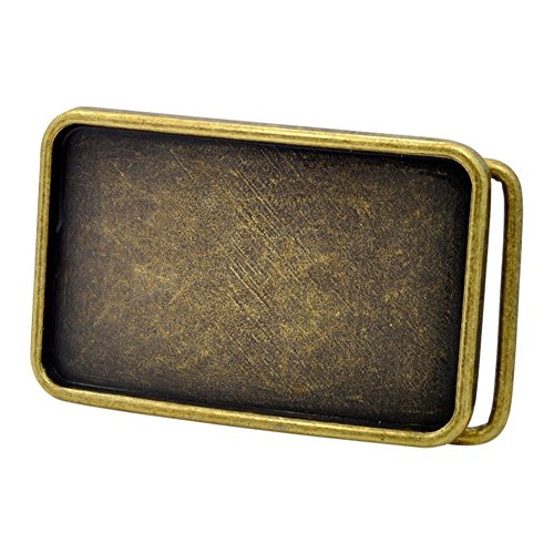 [Buckle Men's Rectangle Custom Design Belt Buckle Small Bronze] (Custom Belt Buckle)