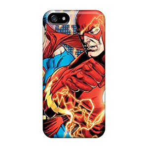 RobertWood Cases Covers For Iphone 5/5s - Retailer Packaging Superman Flash Protective Cases
