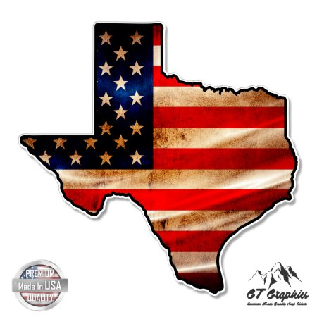 Texas Map Flag USA Vintage - 5