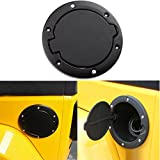 Powder Coated Black Steel Gas Fuel Tank Cap Cover for Jeep Wrangler JK JKU Unlimited Rubicon Sahara X Off Road Sport Exterior Accessories 2007-2017