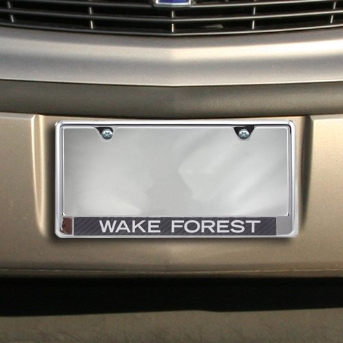 Wake Forest University S24774 LIC PLT Frame B//O Metallic