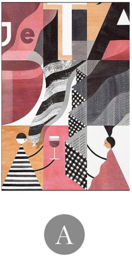 DMPro Famoso Pintura Abstracto Pared Arte Poster Impresiones Lienzo Rosa Cuadros para Salon HabitacióN Moderno HD Poster Hogar Decoracion -A / 40x60cm / Sin Marco