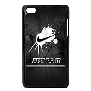 Personality customization TPU Case with Just Do It iPod Touch 4 Case Black