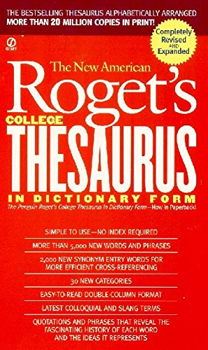 New American Roget's College Thesaurus in Dictionary Form (Revised & - Definition Signet
