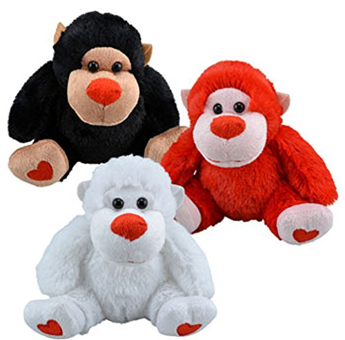 Go bananas this Valentine's day With These Plush Valentine's Stuffed Animal Gorillas, 5½