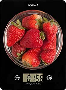 Digital Kitchen Food Scale for Weight Watchers by Digiscale Tempered Sealed Glass Platform with Large LCD Screen with Easy Taring, Count Grams and Ounces with 0.1 oz Precision Weighs Pounds, ML, and FL Ounces as Well, Get The Results You Want Today!