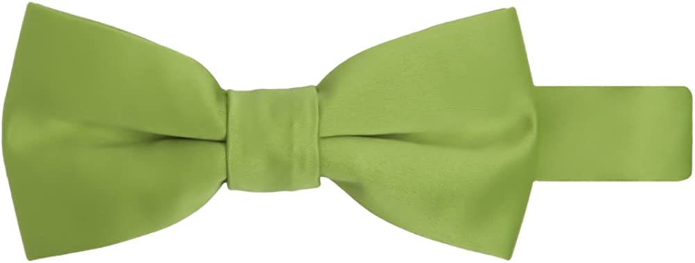 Jacob Alexander Boy's Kids Pretied Banded Adjustable Solid Color Bowtie