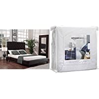 Signature Sleep Memoir 6 Inch Memory Foam Mattress with CertiPUR-US certified foam, Twin with AmazonBasics Hypoallergenic Vinyl-Free Waterproof Mattress Protector, Twin