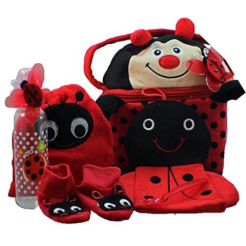 - Little Lady Bug-a-boo Baby Gift Basket, Girl