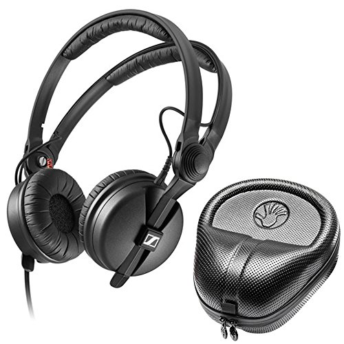Sennheiser HD 25 PLUS On-ear closed back Monitor DJ Headphones + Slappa HardBody PRO Headphone Case - Hd 25 Professional Closed Headphone