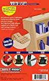 Safe-T-Proof HT-MP-201-01-BR New HoldTight Anti-Tip Fastening System Furniture Fastener, Brown