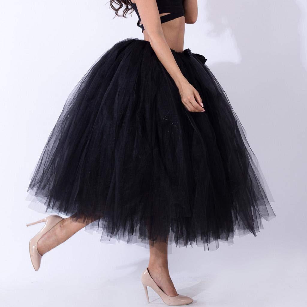 Falda de Tutu Mujer, SHOBDW Malla de Tul En Capas de Dama de Honor ...
