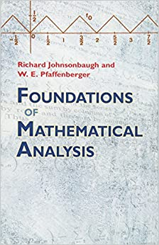 Foundations of Mathematical Analysis (Dover Books on Mathematics)