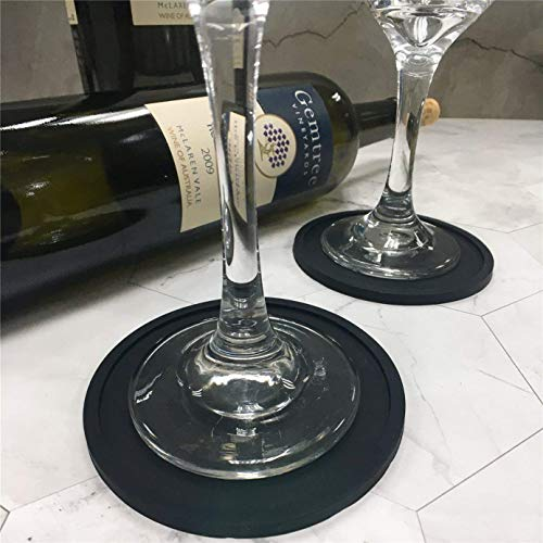 Hosaire Silicone Drink Coasters Great Grip, Easy To Clean, Protects Your Furniture - Spill Tray To Catch Condensation - For Coffee Cup, Wine Glass, Beer Bottle And All Other Beverages Blue 4 inch by Hosaire (Image #8)