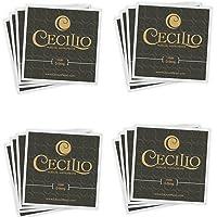 Cecilio 4 paquetes de cuerdas para violín 4 /4-3 /4 de acero inoxidable (total 16 cuerdas)