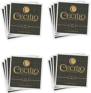 Cecilio 4 Packs of Stainless Steel 4/4-3/4 Violin Strings Set (Total 16 Strings)