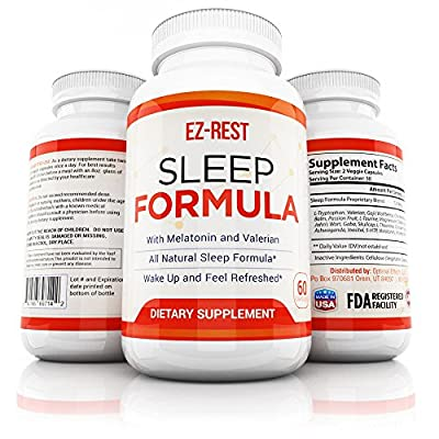 Natural Sleep Aid with Melatonin by Optimal Effects - Sleep Aid and Refresher Supplement - Non Habit Forming Sleeping Pill - Valerian Root, 5-HTP, Cha