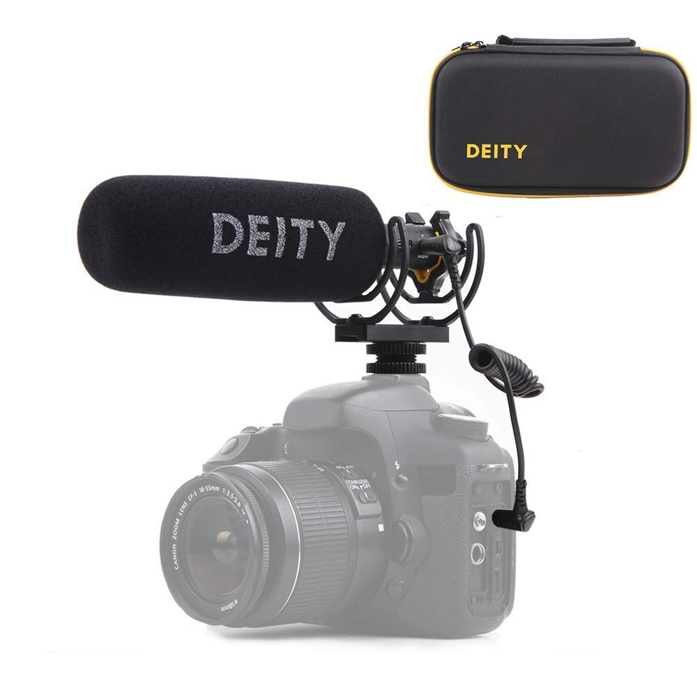 Deity V-Mic D3 Pro Super-Cardioid Directional Shotgun Microphone with Rycote Shockmount for DSLRs, Camcorders, Smartphones, Tablets, Handy Recorders, Laptop and Bodypack Transmitters by Deity