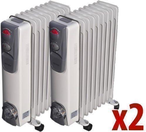 2 Estufas Caravanas Electricas Radiador Aceite Portatil 2000w 9fin ...