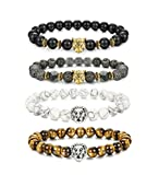 LOLIAS 4 Pcs Lava Rock Bead Bracelet - Best Reviews Guide