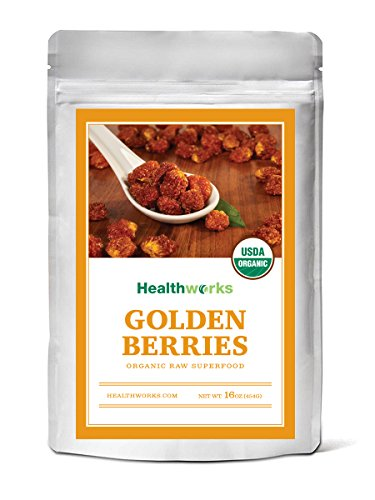 (Healthworks Golden Berries, Raw Organic Sun-Dried Natural, 1lb)