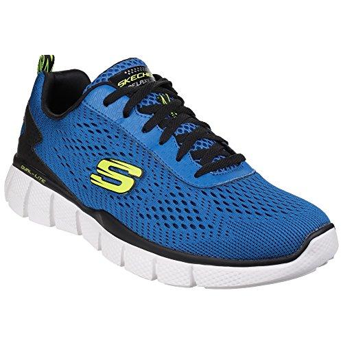 Skechers - zapatillas deportivas flexible Modelo Equalizer 2.0 Settle The Score hombre caballero Negro Gris