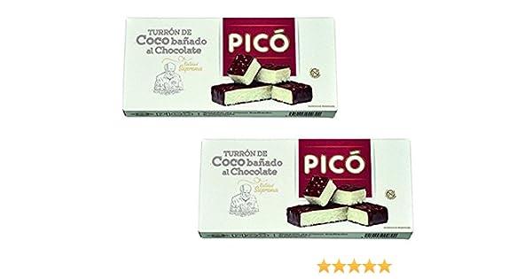Picó - Pack incluye 2 Turrón de Coco bañado al chocolate - Turrón blando - Calidad superma 200gr: Amazon.es: Alimentación y bebidas