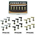 Power Pins Advanced Acoustic Guitar Bridge Pin System - Chrome