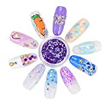 12 Pots/set Nail Sequins Powder, Mermaid Half-Pearl Star Moon Sequins Glitters Sticker Nail Art Design Decorations DIY Decals, 3d Manicure UV Gel Polish DIY Accessory