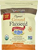 Gourmet Food : Spectrum Essentials Organic Ground Flaxseed, 24 Ounce