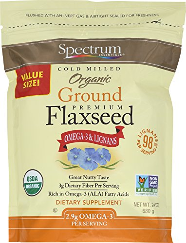 Spectrum Essentials Organic Ground Flaxseed, 24 oz (Best Ground Flaxseed Brand)
