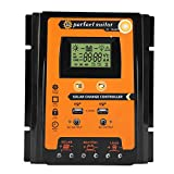 Keenso 12V/24V 30A/50A/70A MPPT Solar Charge Controller Solar Panel Battery Regulator Dual USB LCD Display (70A)