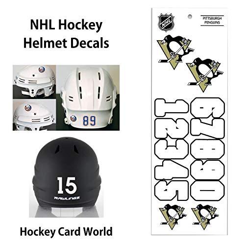 (Pittsburgh Penguins (WHITE) NHL Hockey Helmet Decals Sticker)