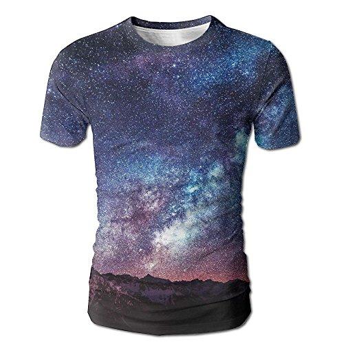Mens Galaxy Space Fashion Tshirts Short Sleeve Running - Casuarina Shopping