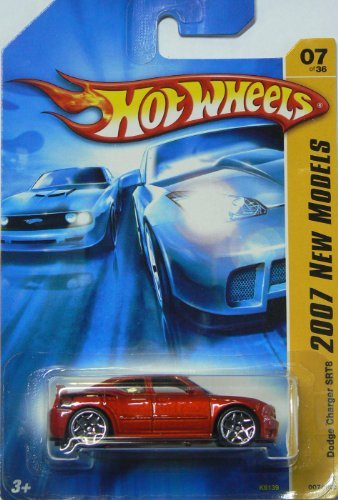 2007 New Models #7 Dodge Charger SRT8 Copper Red Body With Orange Spoiler #2007-7 Collectible Collector Car Mattel Hot Wheels