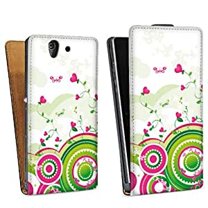 Diseño para Sony Xperia Z L36h DesignTasche Downflip black - Ivy Hearts