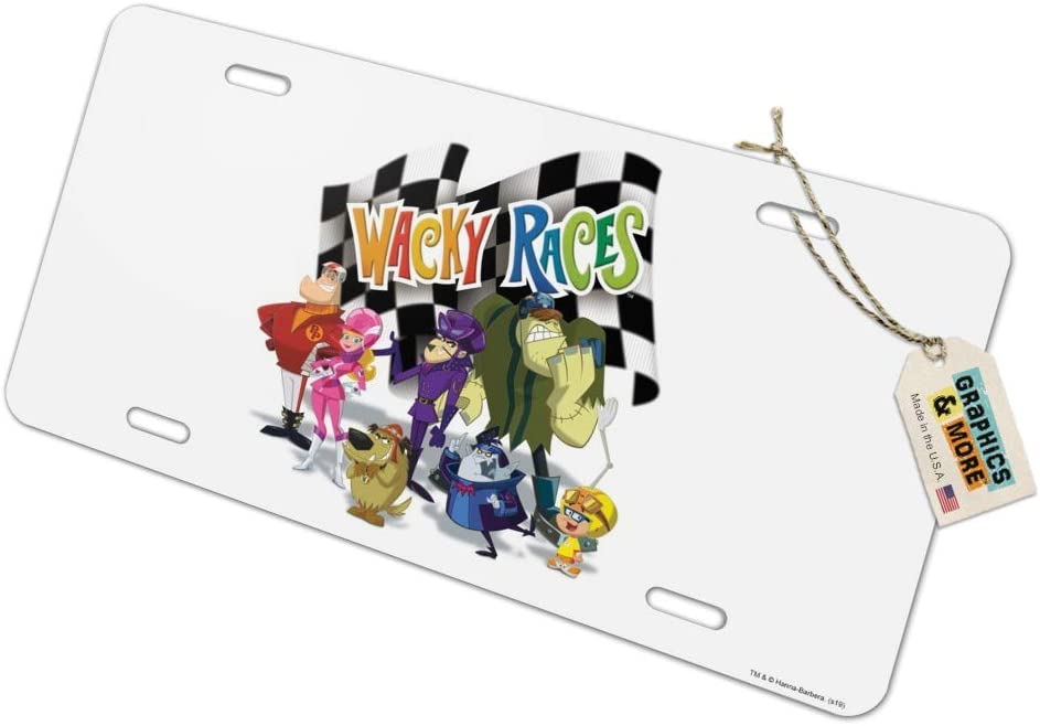 Graphics and More Wacky Races Crew Novelty Metal Vanity Tag License Plate