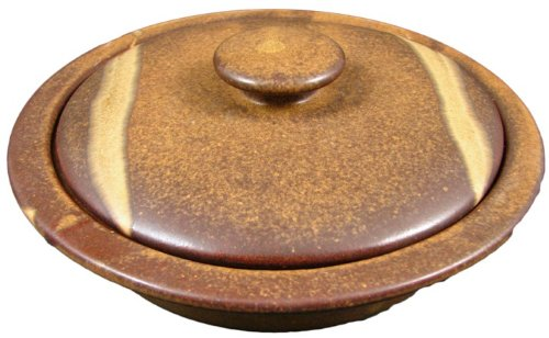 PRADO STONEWARE COLLECTION - Collectible & Functional Casserole Baking Dish/Tortilla Warmer - Rustic Brown