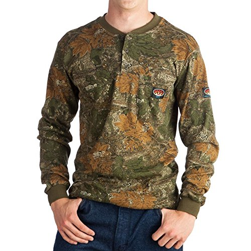 Rasco FR Camo Henley T-Shirt 100% Preshrunk Cotton NFPA 2112 (Medium, Camo)