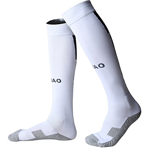 Adults Soccer Socks Professional Clubs Anti Slip Thick High Long Warm Knee Socks Youth Baseball Socks for Teen Boys Girls Cushion Bottom Sports