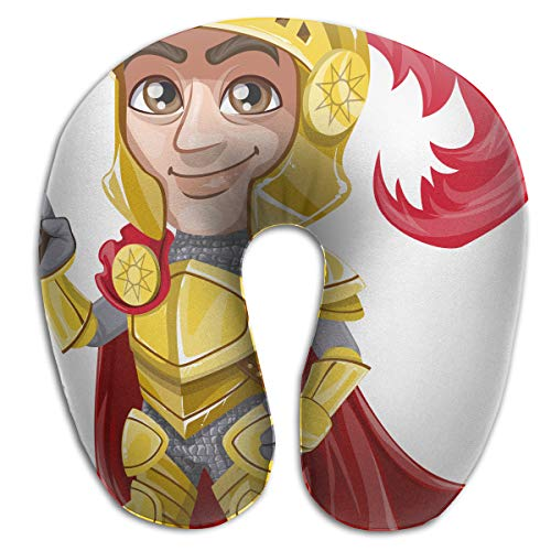 ZZDOW Feather Soft Polyester Neck Pillow, Knights, Neck-Supportive Travel Pillow