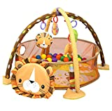 Cheap Orient Home Design Baby Cartoon Toys Grow with Me Activity Gym Play Mat and Ball Pit Infant Floor Blanket Educational Gym Mats Kids Rug Activity Climbing Carpet Lion