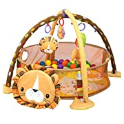 Baby Cartoon Toys Grow with Me Activity Gym Play Mat and Ball Pit Infant Floor Blanket Educational Gym Mats Kids Rug Activity Climbing Carpet Lion